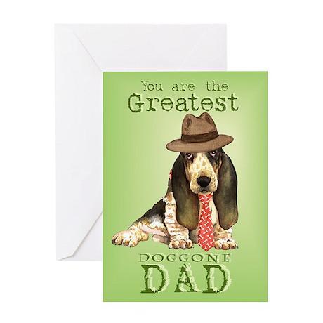 Basset I Love Dad Greeting Card
