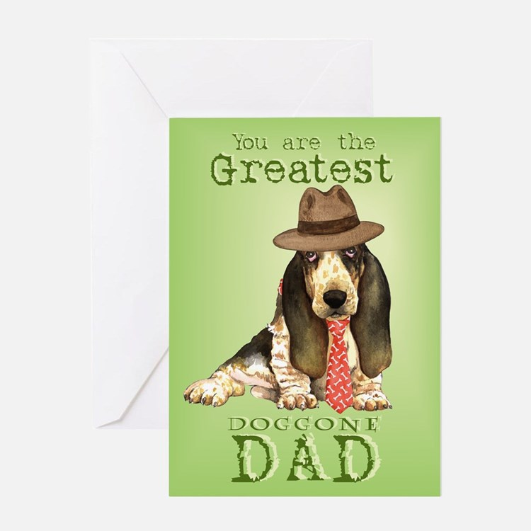 Basset Father's Day Greeting Card
