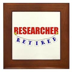 Retired Researcher Framed Tile