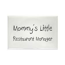 Mommy's Little Restaurant Manager Rectangle Magnet