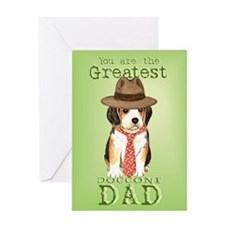 Beagle I Love Dad Greeting Card