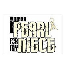 I Wear Pearl For My Niece 6 Postcards (Package of