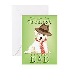 Bichon I Love Dad Greeting Card
