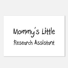 Mommy's Little Research Assistant Postcards (Packa