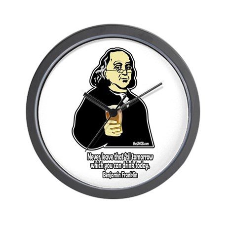 Beer Philosophers Ben Frankli Wall Clock