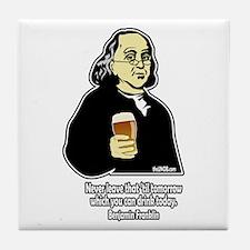 Beer Philosophers Ben Frankli Tile Coaster
