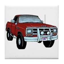 Cute Dodge ram Tile Coaster