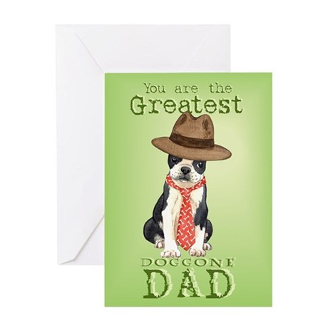 Boston I Love Dad Greeting Card