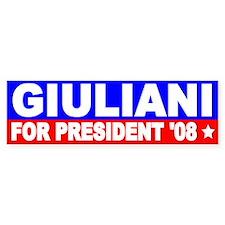 Rudy Giuliani Bumper Bumper Sticker Bumper Bumper Sticker