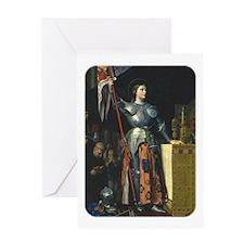 Joan in Armor Greeting Card