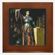 Joan in Armor Framed Tile