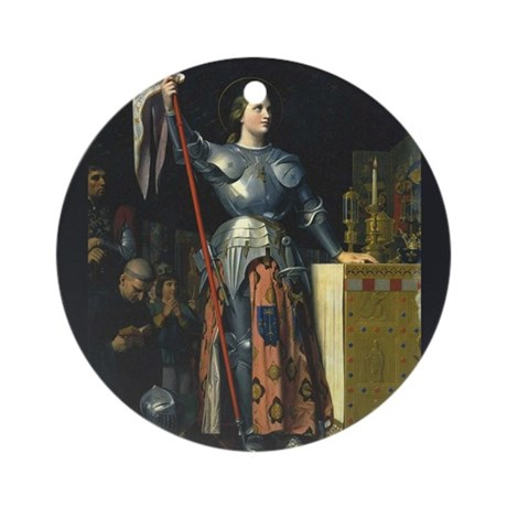 Joan in Armor Ornament (Round)