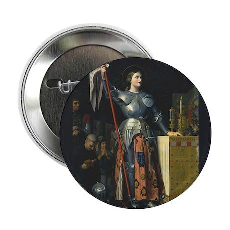 "Joan in Armor 2.25"" Button"