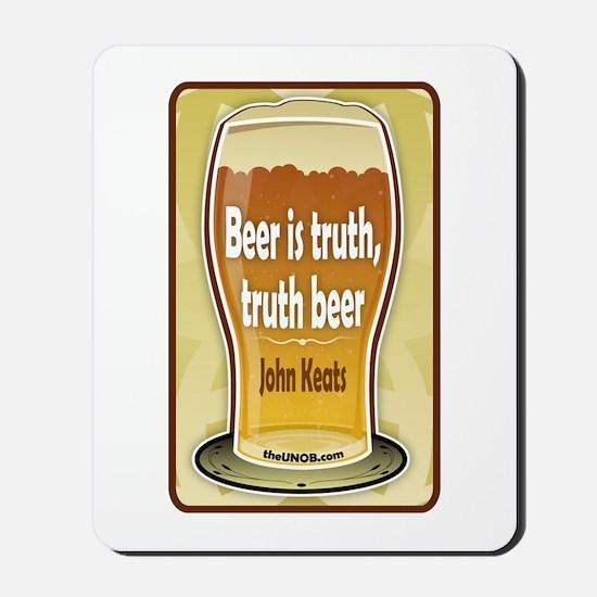 Beer Philosophers: Keats Mousepad