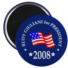 Rudy Giuliani Buttons & Magne Magnet