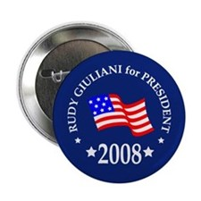 """Rudy Giuliani Buttons & Magne 2.25"""" Button"""