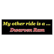 Dwarven Ram Bumper Bumper Sticker
