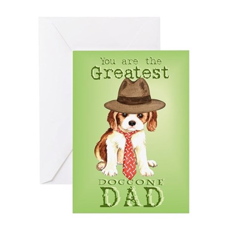Cavalier Father's Day Greeting Card