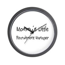 Mommy's Little Recruitment Manager Wall Clock