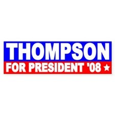 Fred Thompson Bumper Bumper Stickers Bumper Bumper Sticker