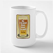 Beer Philosophers Victor Borg Large Mug