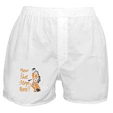 Hockey Goalie - Orange Boxer Shorts