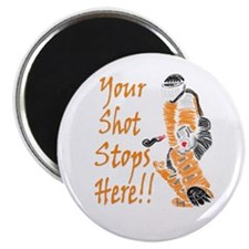 Hockey Goalie - Orange Magnet