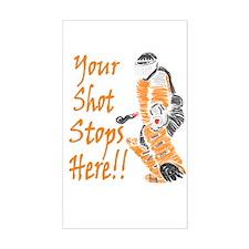 Hockey Goalie - Orange Rectangle Decal