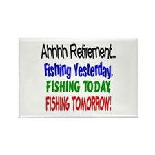 Retirement Fishing Yesterday Rectangle Magnet