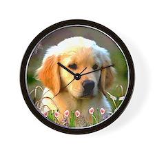 Austin, Retriever Puppy Wall Clock