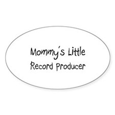 Mommy's Little Record Producer Oval Decal