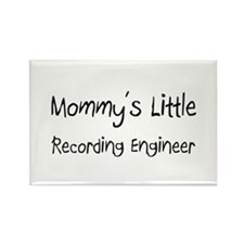 Mommy's Little Recording Engineer Rectangle Magnet