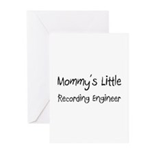 Mommy's Little Recording Engineer Greeting Cards (