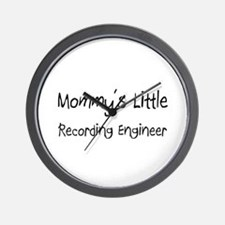 Mommy's Little Recording Engineer Wall Clock