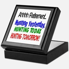 Retirement Hunting Yesterday Keepsake Box