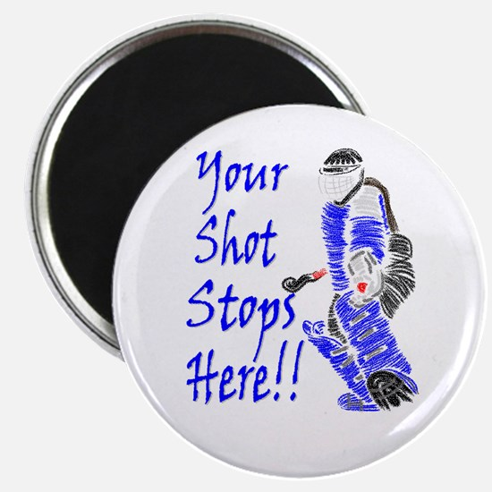 Field Hockey Goalie Magnet - Blue