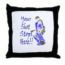 Field Hockey Goalie Throw Pillow - Blue