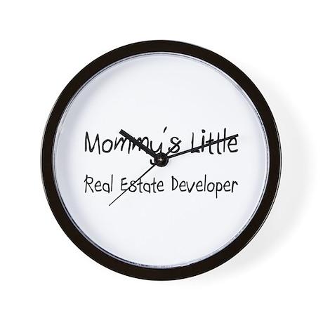 Mommy's Little Real Estate Developer Wall Clock