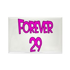 Forever 29 2 Rectangle Magnet (10 pack)
