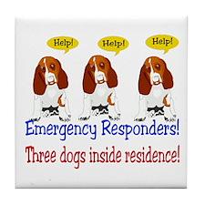 Three Dog Alert Tile Coaster