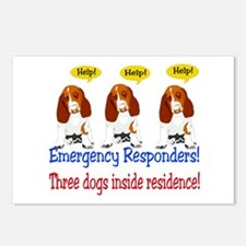 Three Dog Alert Postcards (Package of 8)