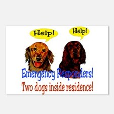 Two Dog Alert Postcards (Package of 8)