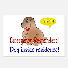 Single Dog Alert Postcards (Package of 8)