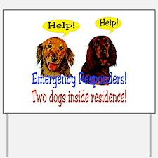 Two Dog Alert Yard Sign