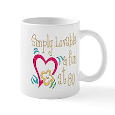 Lovable 80th Mug