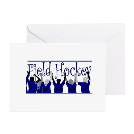 FH Goalie - Navy - Greeting Cards (Pk of 10)
