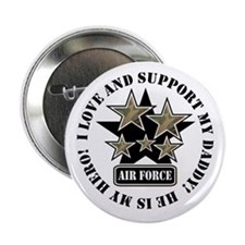 Air Force Kids Love & Support Button