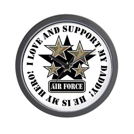 Air Force Kids Love & Support Wall Clock