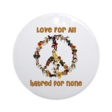 Dogs Of Peace Ornament (Round)