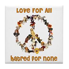 Dogs Of Peace Tile Coaster